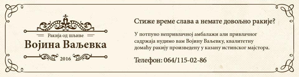 Vojina Valjevka baner